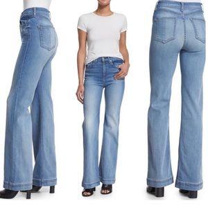 Rag and Bone Justine Wide Leg High Waist Jeans